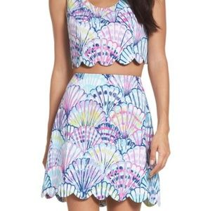 8031a827f51 Lilly Pulitzer Seashell Caden crop top and skirt